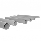 Труба гладкая жесткая ПВХ d20 EKF серая (156м/уп) (3м) EKF PROxima