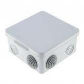Коробка распаячная КМР-030-014 с крышкой  наружная (103х103х55), 8 мембранных вводов IP54 EKF PROxima