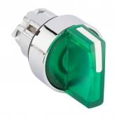 Исполнительный механизм переключателя ХB4 зеленый на 3 положения возвратный без фиксации, с подсветкой с короткой ручкой EKF PROxima