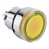 Исполнительный механизм кнопки XB4 желтый плоский  возвратный без фиксации, с подсветкой EKF PROxima