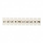 """Маркеры для JXB-ST 2,5 с символами """"L1, L2, L3, N, PE"""" (10 шт.) EKF PROxima"""