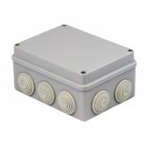 Коробка распаячная КМР-050-042 пылевлагозащитная, 10 мембранных вводов, уплотнительный шнур (196х142х80) EKF PROxima