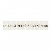 """Маркеры для JXB-ST 4 с символами """"L1, L2, L3, N, PE"""" (10 шт.) EKF PROxima"""