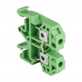 Колодка клеммная  JXB-6/35 зеленая EKF PROxima