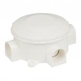 Коробка распаячная КМР-040-040 трехрожковая белая (80х35) EKF PROxima
