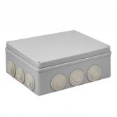 Коробка распаячная КМР-050-043 пылевлагозащитная, 12 мембранных вводов, уплотнительный шнур (244х190х95) EKF PROxima