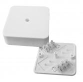 Коробка разветвительная КМР-030-030кг наружная (78х78х26) белая с клеммником EKF  PROxima