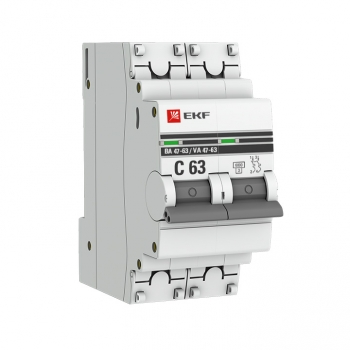 Автоматический выключатель 2P 6А (B) 6кА ВА 47-63 EKF PROxima
