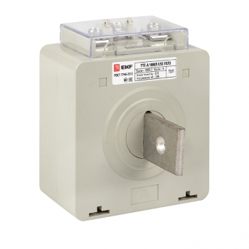 Трансформатор тока ТТЕ-A-1000/5А с клеммой напряжения класс точности 0,5 EKF PROxima