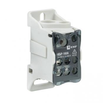 Блок распределительный КБР на DIN-рейку и монтажную панель 160A EKF PROxima