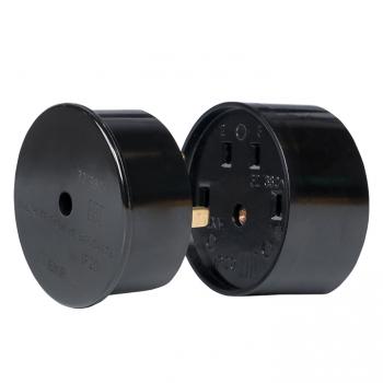 Разъем РШ-ВШ 32А 380В 3P+PE (ОУ) карболитовый черный EKF PROxima