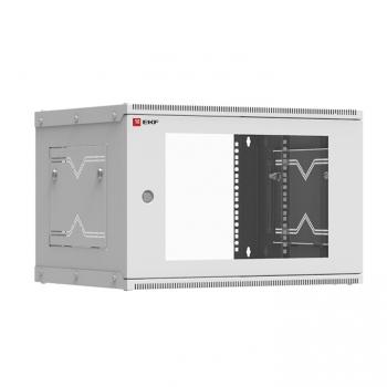 Шкаф телекоммуникационный настенный разборный 6U (600х350) дверь стекло, Astra серия EKF PROxima