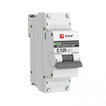 Автоматический выключатель 1P 80А (C) 10kA ВА 47-100 EKF PROxima