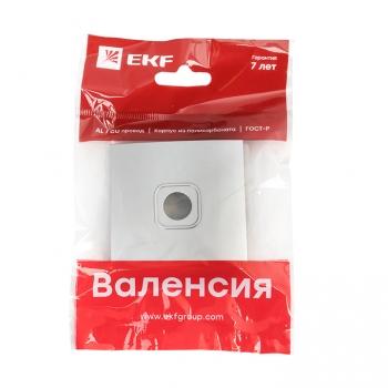 Валенсия лицевая панель розетки TV 1-местная 75Ом 5-862МГц сталь EKF PROxima