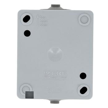Венеция Выключатель 2-клавишный 10А IP54 серый EKF