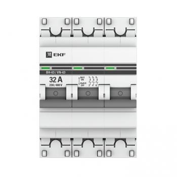 Выключатель нагрузки 3P 32А ВН-63 EKF PROxima