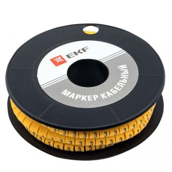 "Маркер кабельный 1,5 мм2 ""3"" (1000 шт.) (ЕС-0) EKF PROxima"