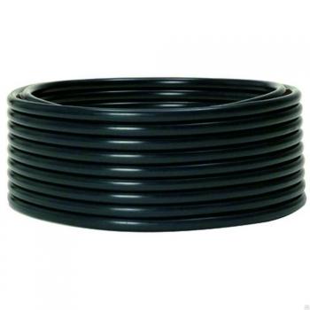 Труба гладкая ПНД жесткая d63 мм (100 м) черная EKF