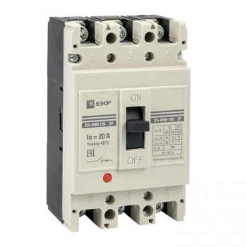 Выключатель автоматический ВА-99М  100/ 20А 3P 35кА EKF PROxima