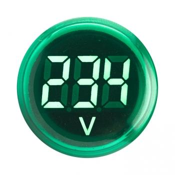Индикатор значения напряжения зеленый ED16-22VD EKF PROxima