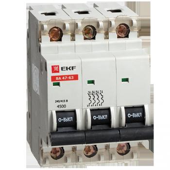Автоматический выключатель ВА 47-63, 3P 8А (C) 4,5kA EKF