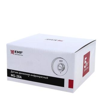 ИК датчик движения потолочный 1200Вт 360гр. до 6м IP20 MS-28A EKF PROxima