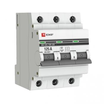 Выключатель нагрузки 3P 125А ВН-125 EKF PROxima