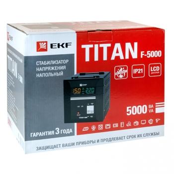 Стабилизатор напряжения напольный TITAN F-5000 EKF PROxima