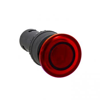 Кнопка SW2C-MD красная с подсветкой NC Грибок EKF PROxima