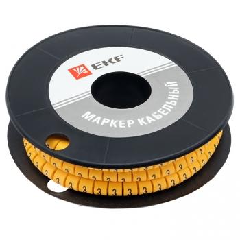 "Маркер кабельный 2,5 мм2 ""3"" (1000 шт.) (ЕС-1) EKF PROxima"