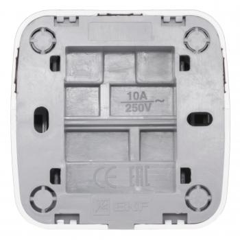 Минск Выключатель 2-клавишный ОП 10А белый  EKF Basic
