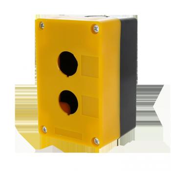 Корпус КП102 пластиковый 2 кнопки желтый EKF PROxima