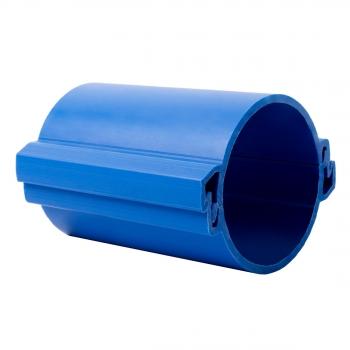 Труба гладкая разборная ПНД 110 мм (450Н), синяя EKF PROxima