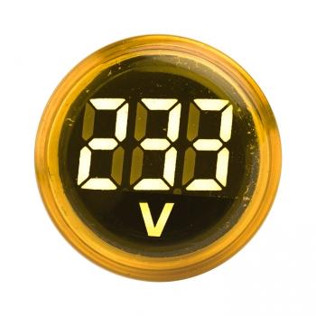 Индикатор значения напряжения желтый ED16-22VD  EKF PROxima