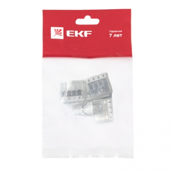 Клемма СМК 2273-248 (с пастой) 8 отверстий 0,5-2.5мм2 (4шт.) EKF PROxima