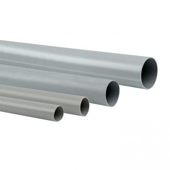 Труба гладкая жесткая ПВХ d20 EKF серая (156м/уп) (3м.) EKF PROxima