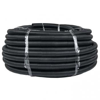 Труба гофр. ПНД Plast с протяжкой d32 мм (50 м) черная EKF