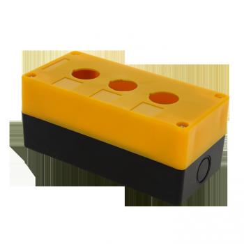 Корпус КП103 пластиковый 3 кнопки желтый EKF PROxima