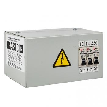 Ящик с понижающим трансформатором ЯТП 0,25кВА 220/12В (3 автомата) EKF Basic