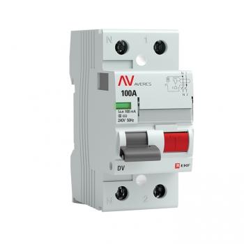 Устройство защитного отключения DV 2P 100А/100мА (S) EKF AVERES