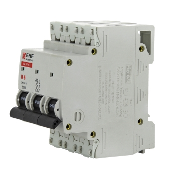 Автоматический выключатель ВА 47-63 6кА, 3P 6А (B) EKF