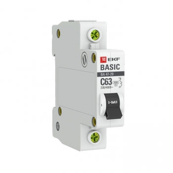 Автоматический выключатель 1P 6А (C) 4,5кА ВА 47-29 EKF Basic