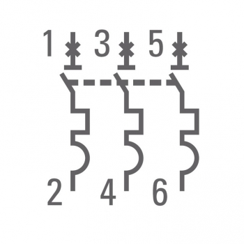 Автоматический выключатель 3P 25А (В) 4,5kA ВА 47-63 EKF PROxima