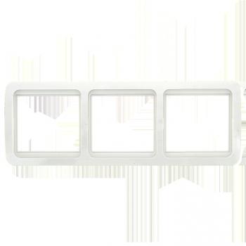 Лондон Рамка 3-местная горизонтальная белая EKF PROxima