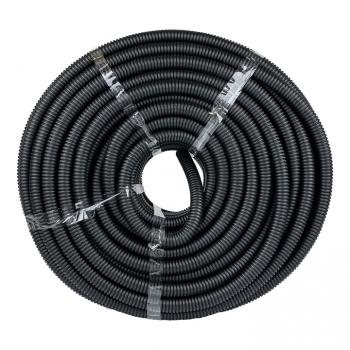 Труба гофр. ПНД Plast с зондом d25мм (75м.) черная EKF PROxima