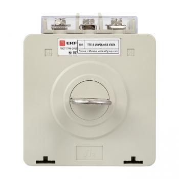 Трансформатор тока ТТЕ-A-250/5А с клеммой напряжения класс точности 0,5S EKF PROxima
