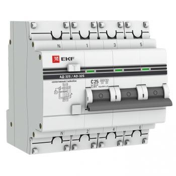 Дифференциальный автомат АД-32 (селективный) 3P+N 25А/100мА EKF PROxima