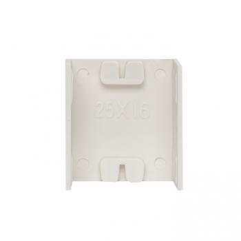 Соединитель (25х16) (4 шт) Plast EKF PROxima Белый