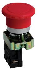 Кнопка BS542 поворотная красная грибок NC EKF PROxima
