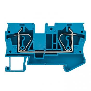Колодка клеммная пружинная JXB-ST-4 41А синяя EKF PROxima